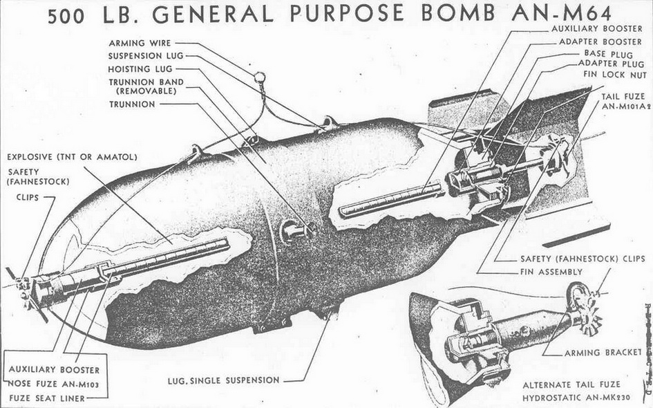 Usnbd Bombs And Fuzes Section I High Explosvie Bombs